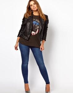 ASOS leather jacket - front