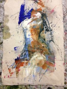 Sauna   acrylic andink on paper   85 x 105   2014 By Jouke Kruijer