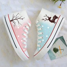 Japanese Harajuku Students Canvas Flat Shoes Fabric Material:Canvas Shoes Are Hand Painted And Pre-order,Each Pair Are Unique. Women's Shoes, Me Too Shoes, Shoe Boots, Flat Shoes, Boys Shoes, Hightop Shoes, Pink Shoes, Youth Shoes, Harajuku Mode