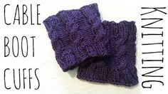 loom knitted boot cuffs - YouTube