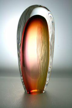 Murano Glass Vase, Glass Vessel, Glass Paperweights, Art Of Glass, Stained Glass Art, Sculpture Art, Sculptures, Glass Marbles, Art For Art Sake