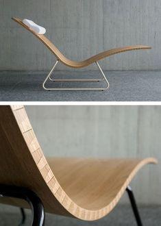 furniture design, chair, resting, useful design CNC a flexible piece of wood? Funky Furniture, Contemporary Furniture, Wood Furniture, Furniture Design, Autocad 3d, Furniture Inspiration, Wood Design, Chair Design, Decoration