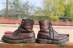 Old Brown Doc Martens #Boots