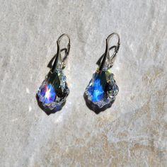 Swarovski earrings handmade earrings by KarmaKittyJewelry on Etsy
