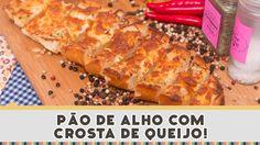 Pão de Alho com Crosta de Queijo - Receitas de Minuto EXPRESS #133