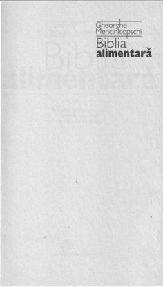 G.Mencinicopschi Biblia Alimentară Math Equations, Bible