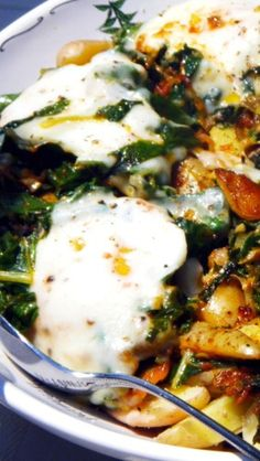 Swiss Chard and Potato Leek Hash - Vegetarian Main Course... I confess I am a meat eater, but every once in a while I need a vegetarian main course and this is my GO-TO Vegetarian recipe... Filled with amazing goodies, and amazingly delicious! Meatless Mondays here I come.