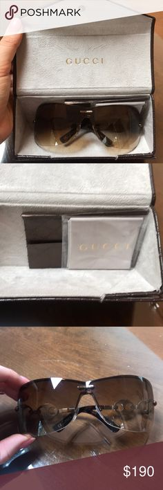 Authentic NWT Gucci Sunglasses Authentic NWT Gucci Sunglasses *never worn* Nothing is wrong with them, they were a gift and are not my style! Gucci Accessories Sunglasses