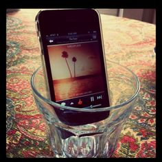 Don't have iPhone speakers?? No problem! Try an iGlass - and it's FREE. Simply place your iPhone or iPod in a rocks glass and play your music - you will be amazed how loud the sound is projected!