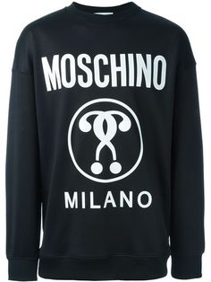 Moschino double question mark print sweatshirt