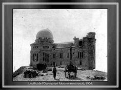 Construcció de l'edifici de l'Observatori Fabra, 1904
