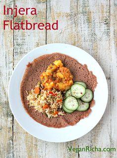 Ethiopian Injera - 100% Teff flatbread. Vegan Glutenfree Recipe - Vegan Richa
