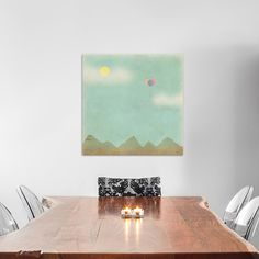 "East Urban Home Over the Mountains Graphic Art on Wrapped Canvas Size: 26"" H x 26"" W x 1.5"" D"