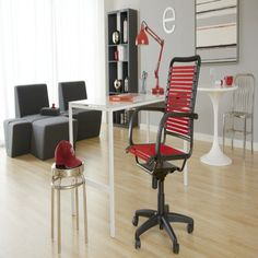 Euro Style Bungie Flat High Back Office Chair - EUS1235