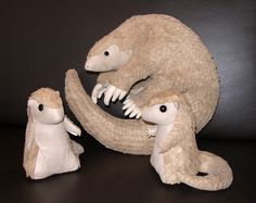 Plush - Pangolin family photo by demiveemon.deviantart.com on @DeviantArt
