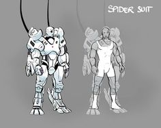 SPIDERS ARE COMING. Well, if you keep supporting us in these last 23 hours of our #Kickstarter for Akeron. This is concept art by Gustavo Garcia for the heavily armed figures that appear later in the story. See the spiders come to life by supporting us. Only 10% to go! https://www.kickstarter.com/projects/submarinechannel/ascent-from-akeron