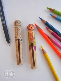 owl clothespins DIY copy
