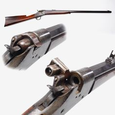 Phoenix Rifle – The Phoenix rifle was a product of the Whitney Arms company in Connecticut. It has been estimated that about 25,000 were produced with chamberings ranging from our example's .40-70 up to .50 caliber from 1867 to 1881. The side-hinging breechblock of the Phoenix allows for easy identification.