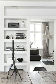 witte vakkenkast: woonkamer