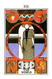 XXI. The World - Tarot Acuariano, David Palladini