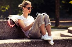 Laid back street style with Superga sneakers
