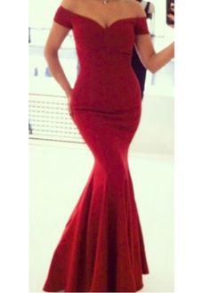Gorgeous Short Sleeve off the Shoulder Mermaid Dress