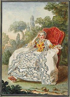 1759 Vicomtesse de Rochechouart by Louis Carrogis CARMONTELLE