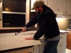 Guide To Re Laminating Kitchen Counter Tops; Use When Putting New Laminate  On Our Old Dinette Set. #KitchenCountertopsWood