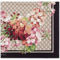 Gucci Gg Blooms Print Silk Scarf ($370) ❤ liked on Polyvore featuring accessories, scarves, floral print scarves, floral shawl, silk scarves, gucci shawl and silk shawl
