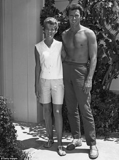 First wife: Clint was married to his first wife Maggie Johnson for 31 years. Here they are pictured circa 1960