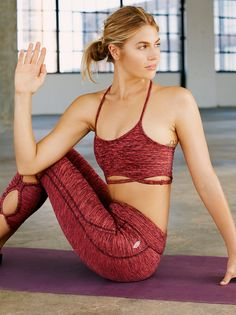 3e55933c6f FP Movement True Navy   Hot Pink Infinity Bra at Free People Clothing  Boutique Women s Activewear