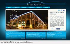web design by { ideo studios } Client: Power Plant Mall Advertising Agency, Design Development, Digital Media, Mall, Digital Marketing, Studios, This Is Us, Web Design, Seo