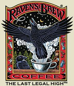 Cafe Don Pablo Gourmet Coffee Signature Blend - Medium-Dark Roast Coffee - Whole Bean Coffee - 2 Pound ( 2 lb ) Bag Crow Art, Raven Art, Bird Art, Halloween Labels, Halloween Apothecary, Crows Ravens, Coffee Girl, Rabe, Quoth The Raven