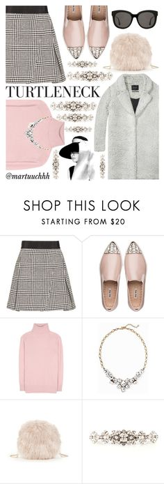 """""""Turtleneck elegance"""" by martuuchhh ❤ liked on Polyvore featuring Alice + Olivia, Miu Miu, Maison Scotch, Tomas Maier, Old Navy, Sole Society, Dolce&Gabbana and Gentle Monster"""