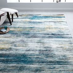Verve Rug, Midnight, at West Elm - Rugs - Home Decor - Floor Decor Contemporary Rugs, Modern Rugs, Midcentury Modern, Small Furniture, Modern Furniture, Furniture Movers, Apartment Furniture, Apartment Living, Furniture Ideas