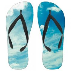 Summer Skies Kids Flip-Flops flexible molded-rubber outsole lends lightweight comfort to a combination kids's flip-flop sandal fit for around the house or out.A basic thong sandal made for warm weather fun,wearing this unique art work Summer Skies Kids Flip-Flops with black straps ultrasoft for your kids feet.