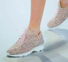 CHANEL SNEAKERS 2014 http://dreamstylepaper.com/chanel-couture-sneakers-spring-2014/
