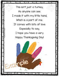 Turkey Handprint Poem for Thanksgiving - Handprint Turkey Poem Thanksgiving Crafts For Toddlers, Happy Thanksgiving Day, Thanksgiving Activities, Fall Crafts, Thanksgiving Turkey, Christmas Crafts, Thanksgiving Writing, Thanksgiving Blessings, Happy Fall