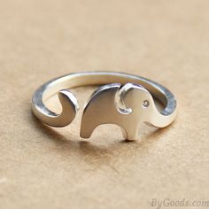 Hand Made Cute Little Elephant 925 Sterling Silver Opening Ring only $19.99 in ByGoods.com!