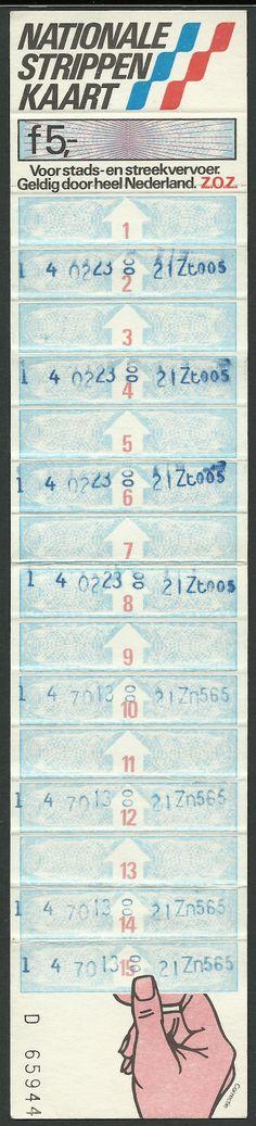 strippenkaart voor de bus.