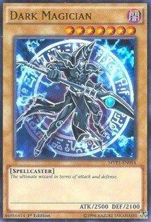 Dark Magician holo yugioh card