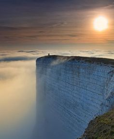 Not for the person who hates heights.  Beachy Head Cliff, South Coast of England