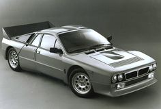 Lancia 037 stradale... a factory hot rod if ever there was. So subtle in gunmetal grey!