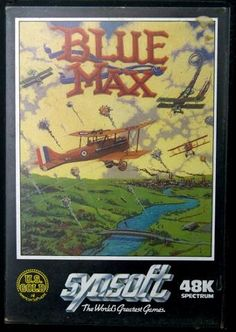 Blue Max ZX Spectrum 48k cassette - Synsoft - U.S. Gold