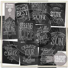 Chalkboard Cheer Spring Art