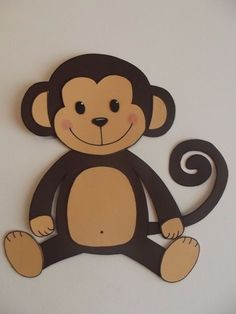Cute Monkey Craft For Kids (With Free Printable Template) Safari Party, Safari Theme Birthday, Baby Boy 1st Birthday, Animal Crafts For Kids, Art For Kids, Decoration Creche, Monkey Crafts, Diy Spray Paint, Creative Activities For Kids