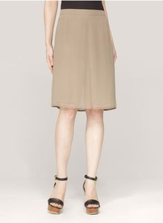3.1 Phillip Lim - Chiffon-overlay culottes | Neutral and Brown Shorts Pants