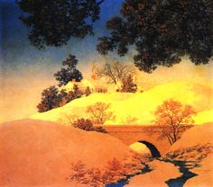 Sunlight by Maxfield Parrish, 1955.
