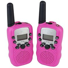 DOLIROX Kids Children Mini Hand Held Walkie Talkie Set Wireless Radio Intercom Interphone with LCD Display and LED Flashing Light pack of 2 Pink ** Details can be found by clicking on the image. Toys For Girls, Kids Toys, Princess Toys, Kids Electronics, Mini Hands, Toy 2, Two Way Radio, Packing Light, Christmas Toys