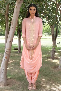 Pale Pink Madsam Tinzin Suit.